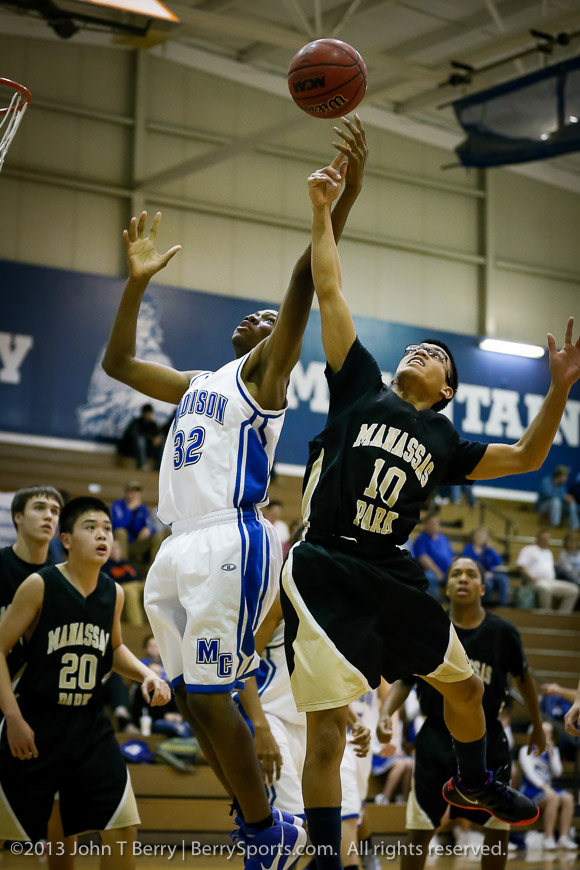 January/8/13:  MCHS JV Boys Basketball vs Manassas Park.  Madison wins 37-33.