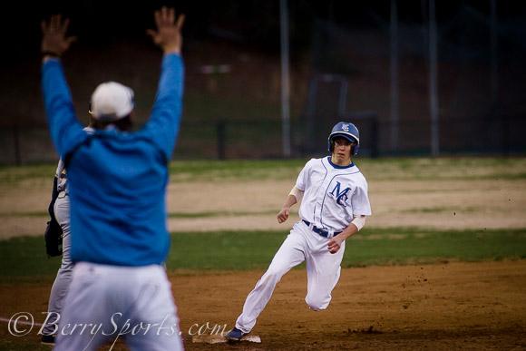 April 09, 2014.  MCHS Varsity Baseball vs Rappahannock