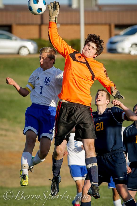April 17, 2014.<br /> MCHS Varsity Boys Soccer vs Rappahannock.