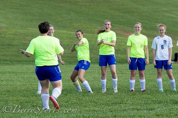 May 22, 2014.  MCHS Varsity Girls Soccer vs Manassas Park.  Senior night.