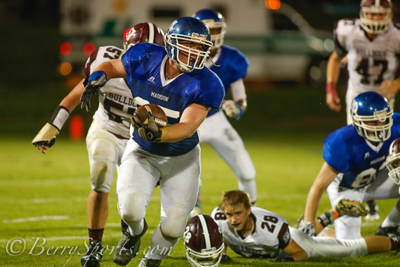 September 05, 2014.  MCHS Varsity Football vs Luray.  Luray wins 25-20.