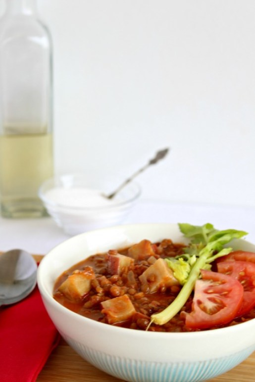 lentil sweet potato & tomato stew   berrysweetlife.com