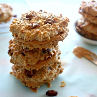 Oaty Raisin Peanut Butter Sandwich Cookies