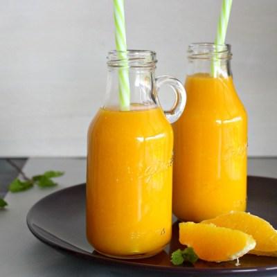 Mango Orange & Ginger Hot Smoothie
