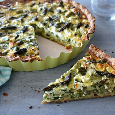 Asparagus Courgette & Goats Cheese Quiche