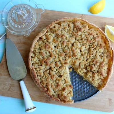 Brown Butter Caramel Crumble Apple Pie