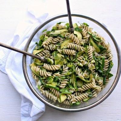 Green Goddess Pesto Pasta Salad