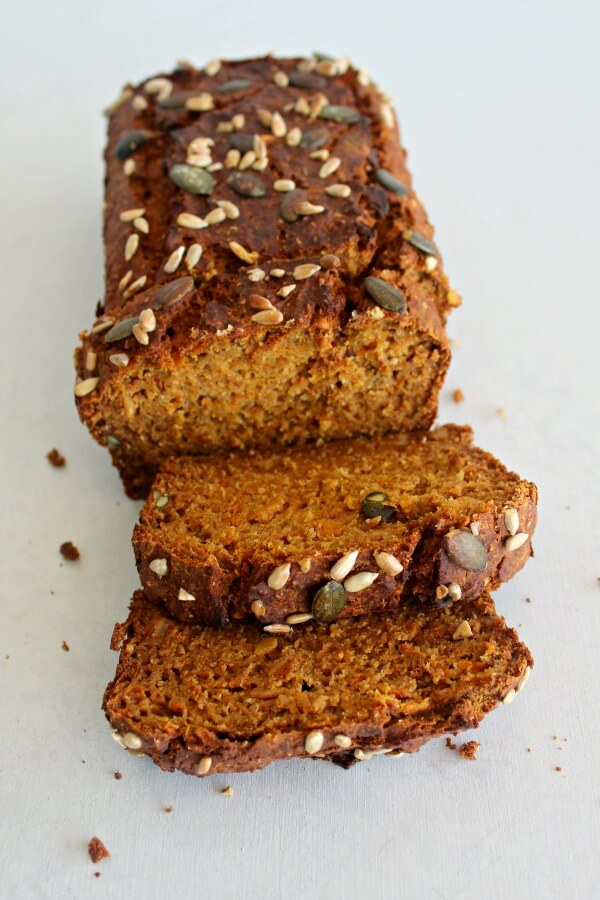 Honey Butternut Carrot Bread. A healthy, moist, spicy, slightly sweet bread recipe that packs a punch of deliciousness and wholesomeness! | berrysweetlife.com