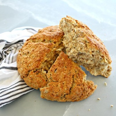 No Knead Multi-Seed Potato Bread