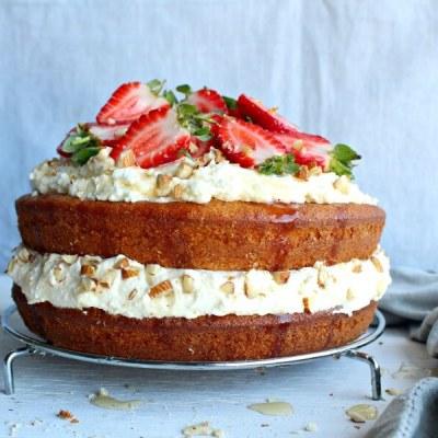 Zesty Orange Honey Layer Cake