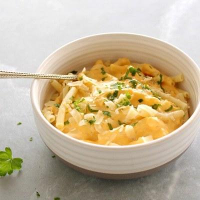 Healthier Butternut Quinoa Macaroni Cheese