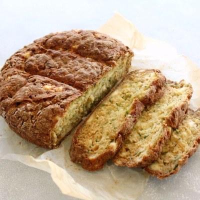 Simple Zucchini Feta Soda Bread