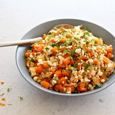 Sesame Chicken Butternut Barley Salad