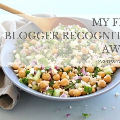 My First Blogger Recognition Award
