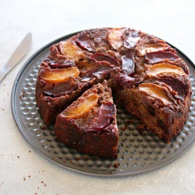 Stone Fruit Apple Date Brunch Cake