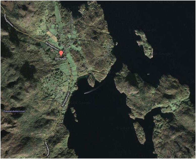 Hentet fra Google Maps