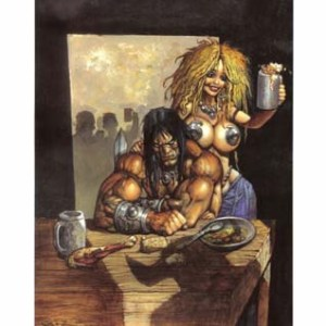 Simon Bisley�s Unfinished Business Limited Print Comic Art
