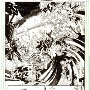 Andrei Bressan – Green lantern new guardian splash Comic Art