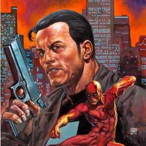 Glenn Fabry – Marvel Knights cover – Punisher Daredevil Comic Art