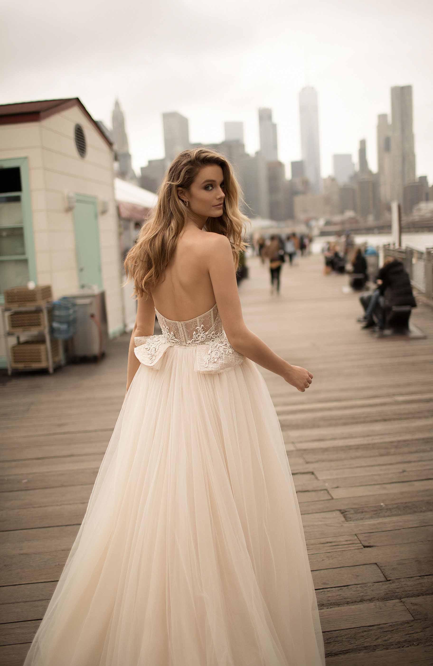 berta spring 2018 bridal spaghetti strap deep v neck full embellishment sexy romantic a  line wedding dress open back chapel train (2) mv