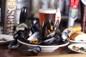 Mussels and a Pint at Bertha's