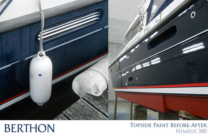 Yacht Paint Facility Inside The Other Blue Shed At