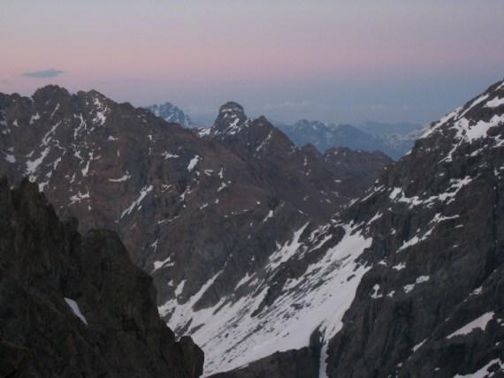 Coucher de soleil sur les Alpes italiennes