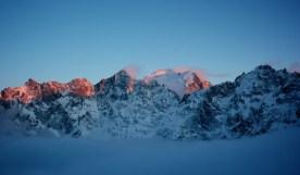Un coucher de soleil comme seul l'altitude peut offrir