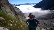 Remontée du Val d'Arpette ; la montée est longue mais créée rapidement la déconnection