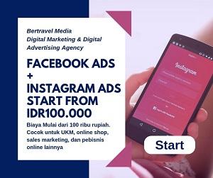Jasa Facebook Ads, Instagram Ads, FB Ads Biaya Mulai 100 ribu rupiah saja