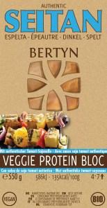 Bertyn Veggie protein Seitan bloc: 550g - spelt