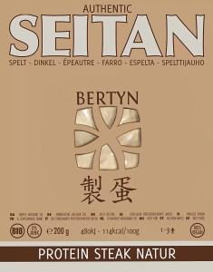 Bertyn Seitan Protein Steak Natur : 200g