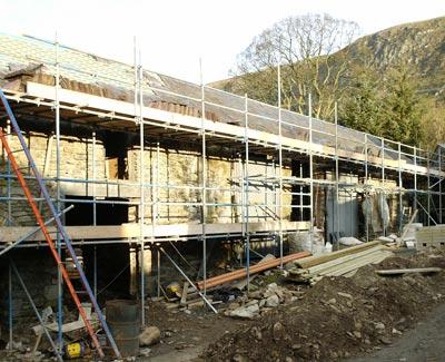 Berwyn Barns construction