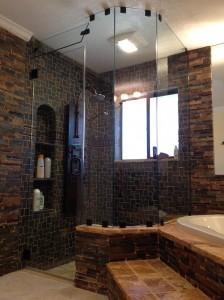 Frameless Shower Unit