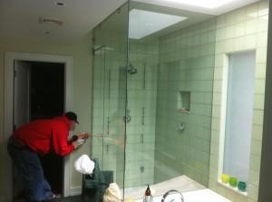 Seamless Shower Glass
