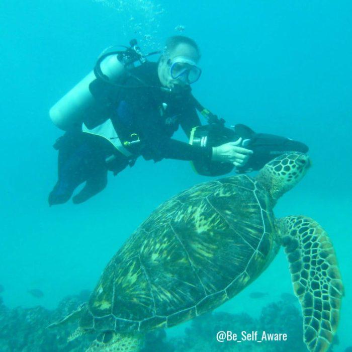 BSA 17 turtle scuba