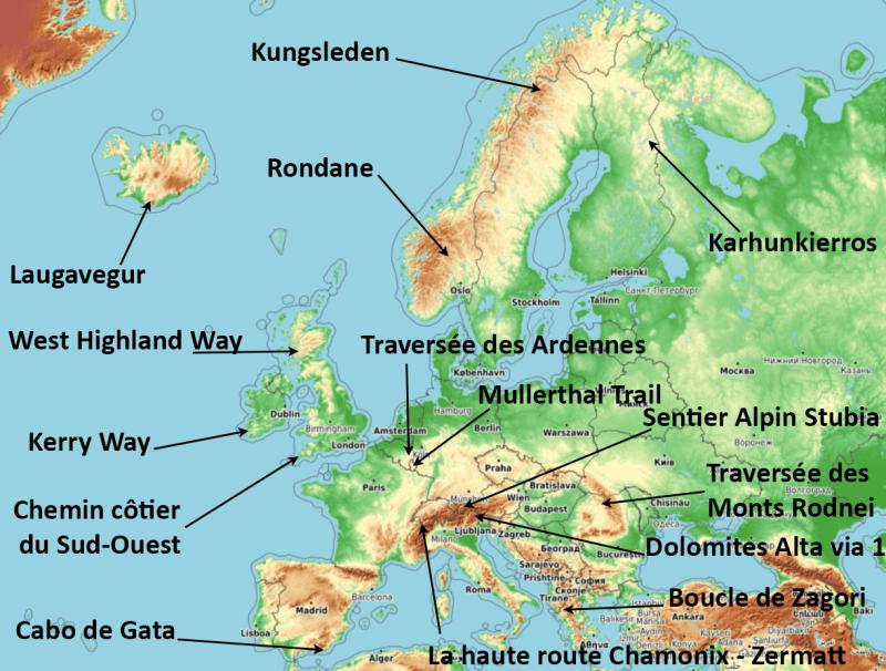 idée de randonnée en europe, GR