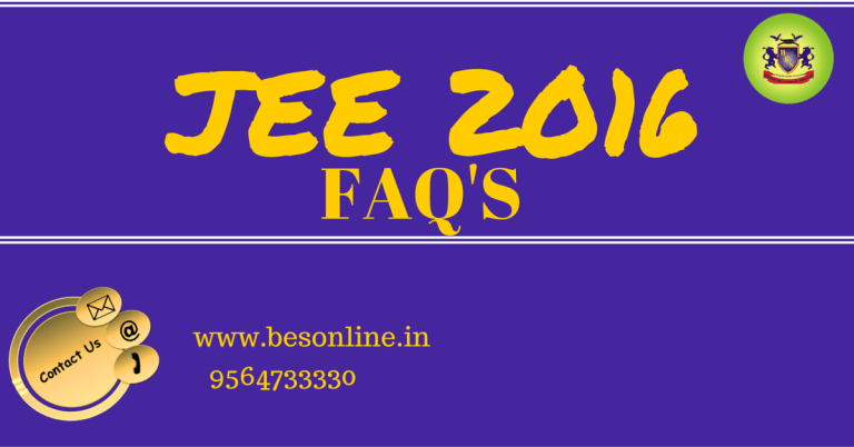 jee 2016 frequently asked quetions