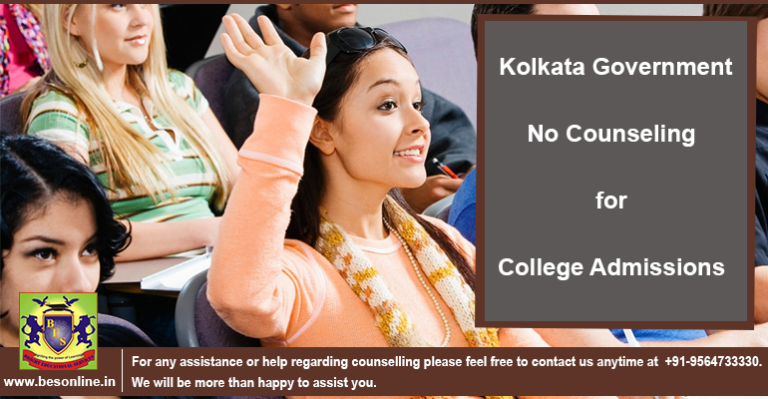 No Counseling for College Admissions: Kolkata Government