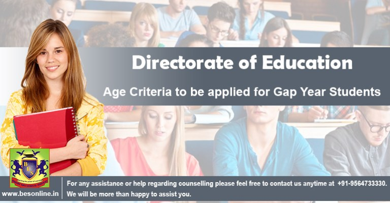 Directorate of Education: Age Criteria to be applied for Gap Year Students