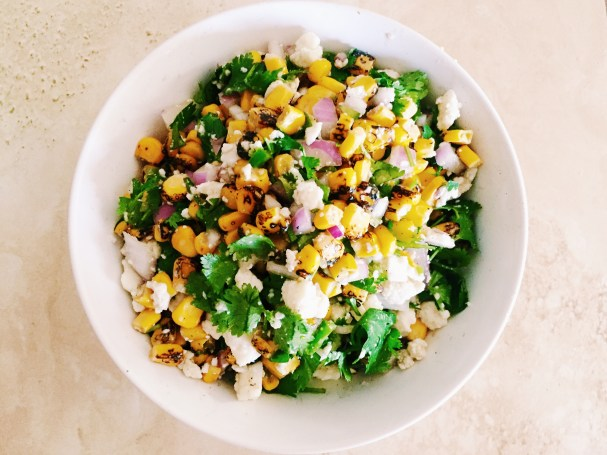 Mexican street style corn salad