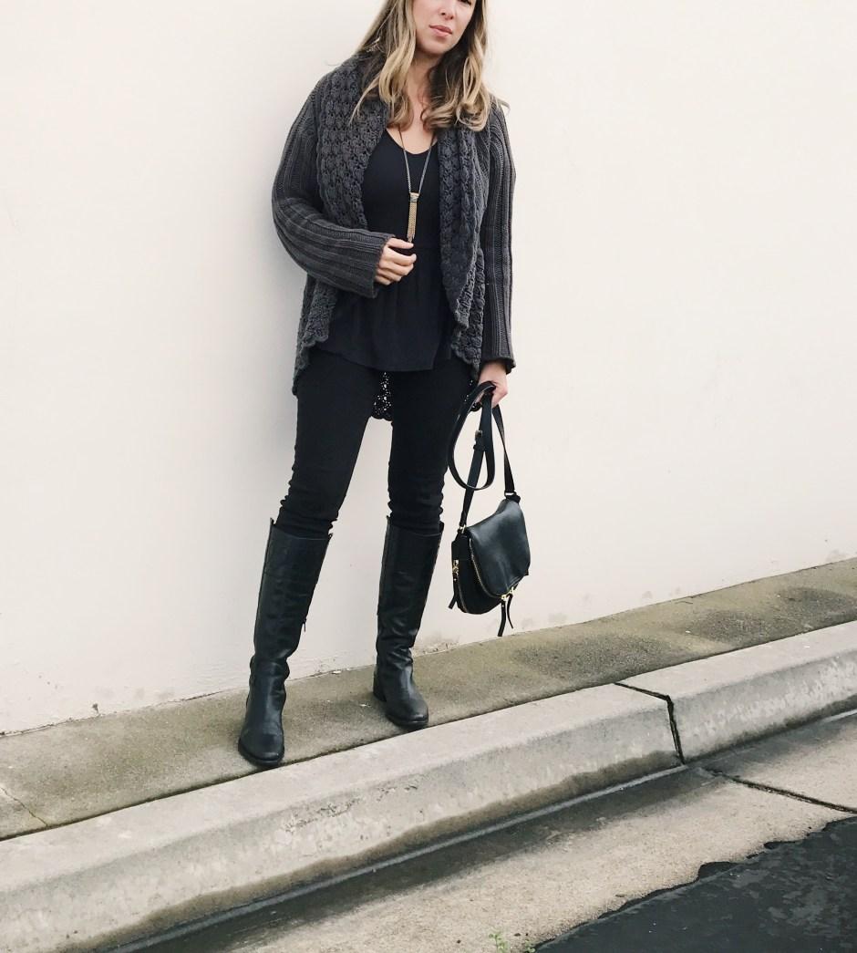casual style, cozy knits, peplum top, besosalina