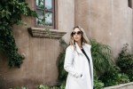 the perfect date night look and white coat for winter