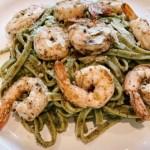 pesto grilled shrimp pasta
