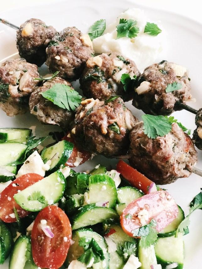 mediterranean inspired meatballs