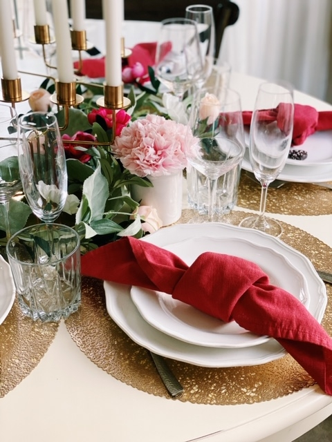valentines day tablescape