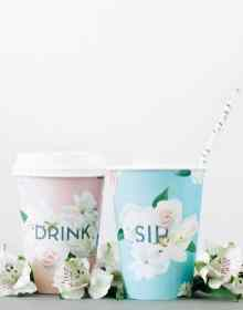 A Subtle Revelry Free Printable Floral cups
