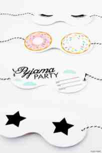 Funky time Free printable eye masks