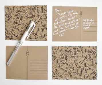 Melissa Espline Free Calligraphy Thank you Printables