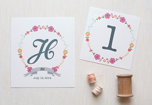 Wedding Chicks Free Printable Floral Letters 21